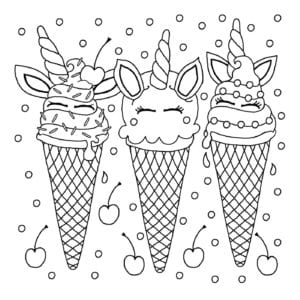 free unicorn coloring pages # 69