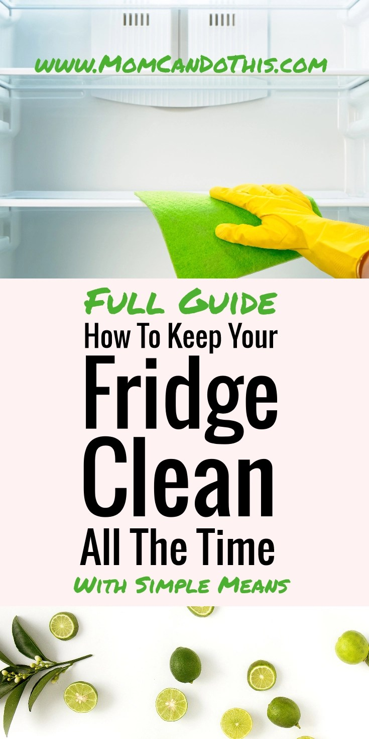 Learn in this full post how to clean a fridge with vinegar and baking soda, how to deodorize a smelly fridge, how to deep clean your fridge in spring-cleaning and more fridge cleaning hacks. Save and click through for the full post and a free printable.