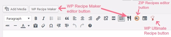 wordpress recipe plugins test