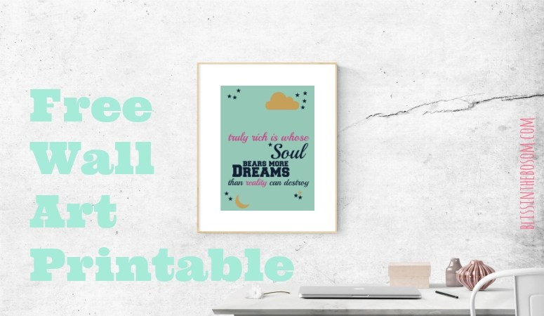 Free Printable Quote Wall Art
