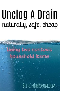 unclogging a drain naturally. natural drain cleaner