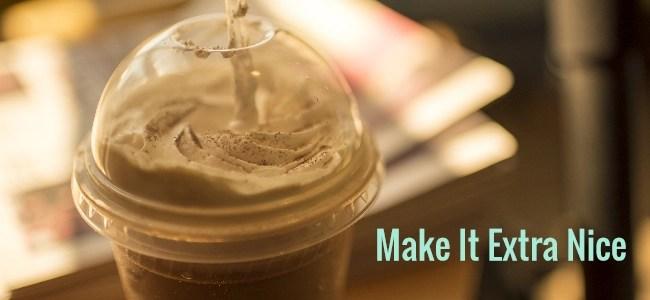 homemade caramel frappuccino