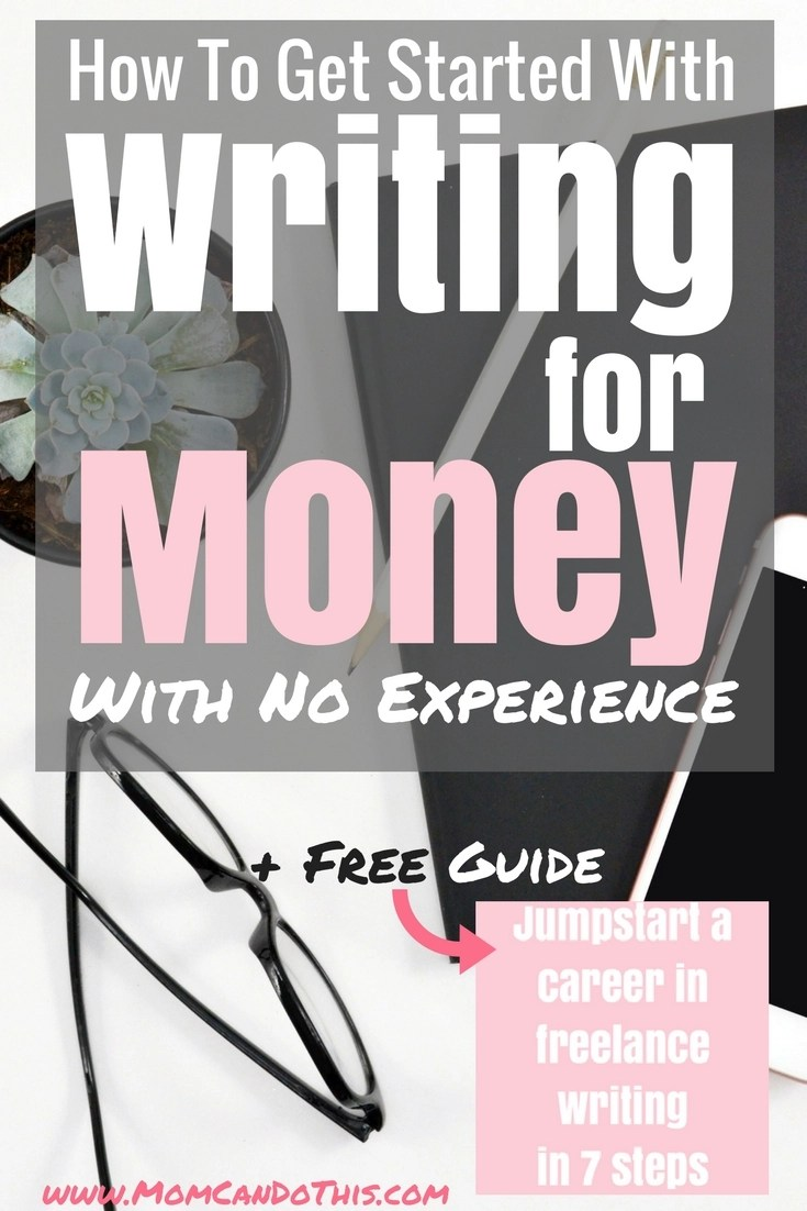 How to get started as a freelance writer? Read about the first step to making money writing at home. Even with no experience or degree in journalism. Download the free Guide to jumpstart a career as a freelance writer in 7 steps now!