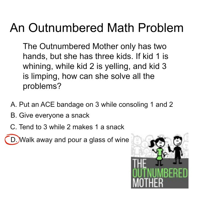 outnumbered mother mom math momcave