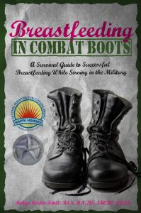 Breastfeeding in Combat Boots Book Cover MomCave