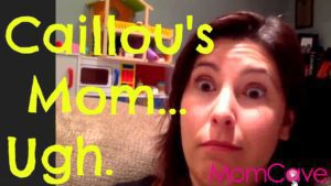 Guest on MomCave LIVE making a funny face about Caillou's Mom