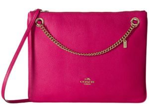 COACH Polished Pebble Leather Convertible Crossbody in pink Mother's Day Gifts that Won't Break the Bank