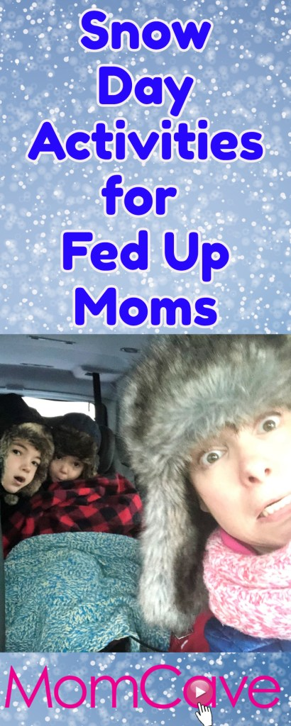 Huge List of Snow Day Activities for Fed Up Moms -- Things to do on a snow day indoors with kids-- MomCaveTV.com