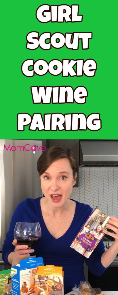 Girl Scout Cookie Wine Pairings by MomCaveTV.com It's Girl Scout Cookie Season and MomCave's Jen has all the best (and funniest) Girl Scout Cookie Wine Pairings.