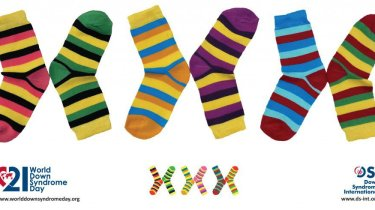 World Down Syndrome Day Sock Graphic