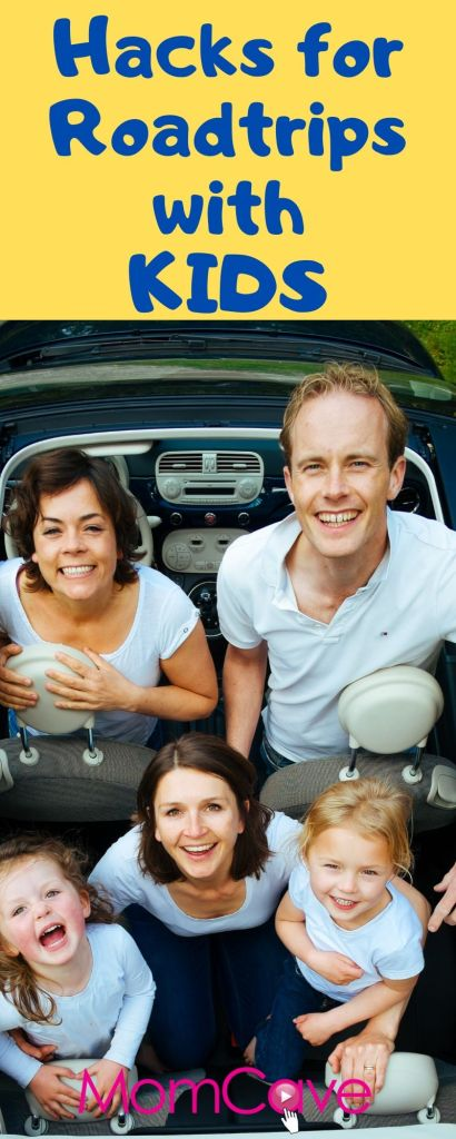 Happy family traveling in car -- Hacks for Roadtrips with Kids from Slacker Mom and MomCaveTV