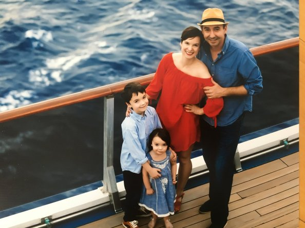 Jen with husband and dad of two kids on family cruise why dads matter momcave