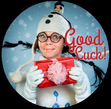 Good Luck Christmas Button