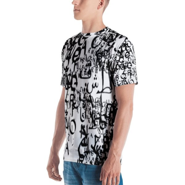 abstract typography -1 -Men's T-shirt-4