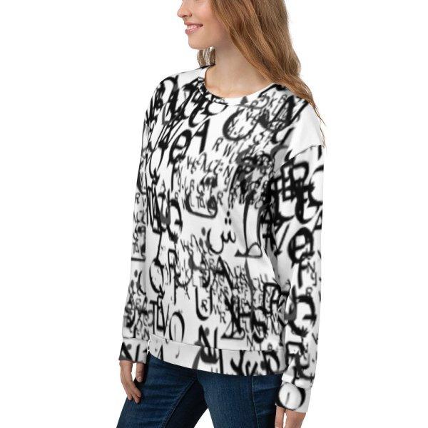 abstract typography -1 -Unisex Sweatshirt-04