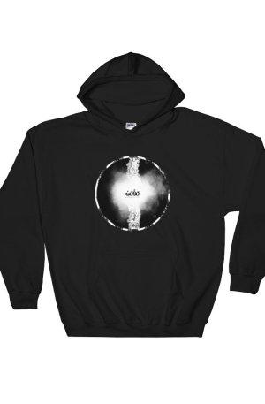 Letters fusion momenarts -Hooded Sweatshirt-black
