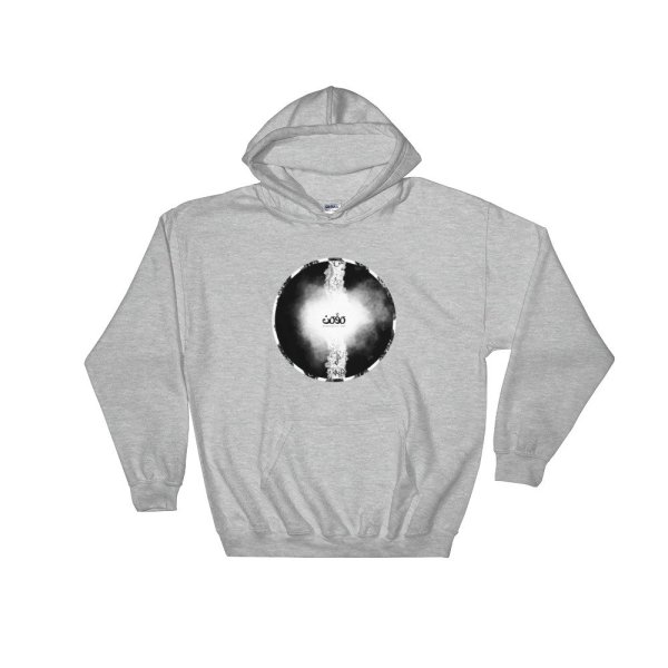 Letters fusion momenarts -Hooded Sweatshirt-gray