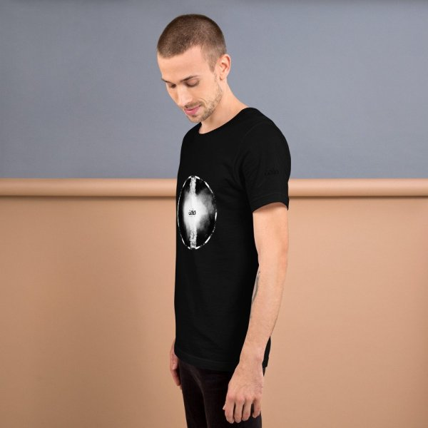 Letters fusion momenarts -Short-Sleeve Unisex T-Shirt-black-2