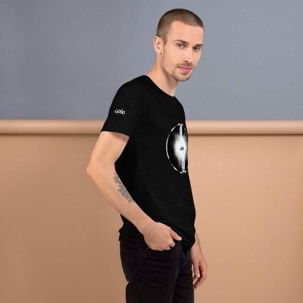 Letters fusion momenarts -Short-Sleeve Unisex T-Shirt-black-6