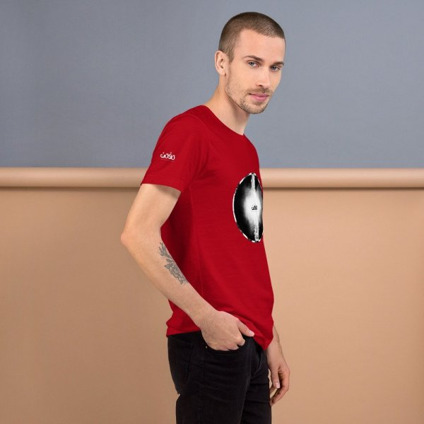 Letters fusion momenarts -Short-Sleeve Unisex T-Shirt-red-3