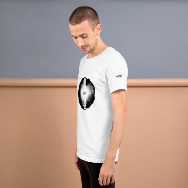 Letters fusion momenarts -Short-Sleeve Unisex T-Shirt-white-2