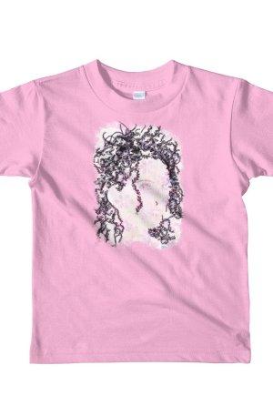 Woman Butterflies - Short sleeve kids t-shirt - Pink