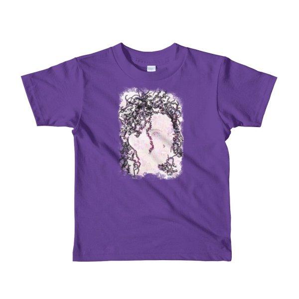 Woman Butterflies - Short sleeve kids t-shirt - Purple