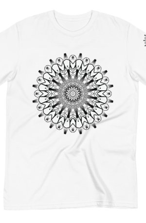pattern mandala 01 -Organic T-Shirt-black-on-white-front