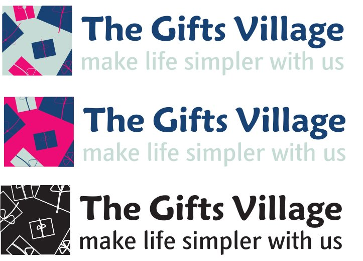 Thegiftsvillage Logo Variations Colors