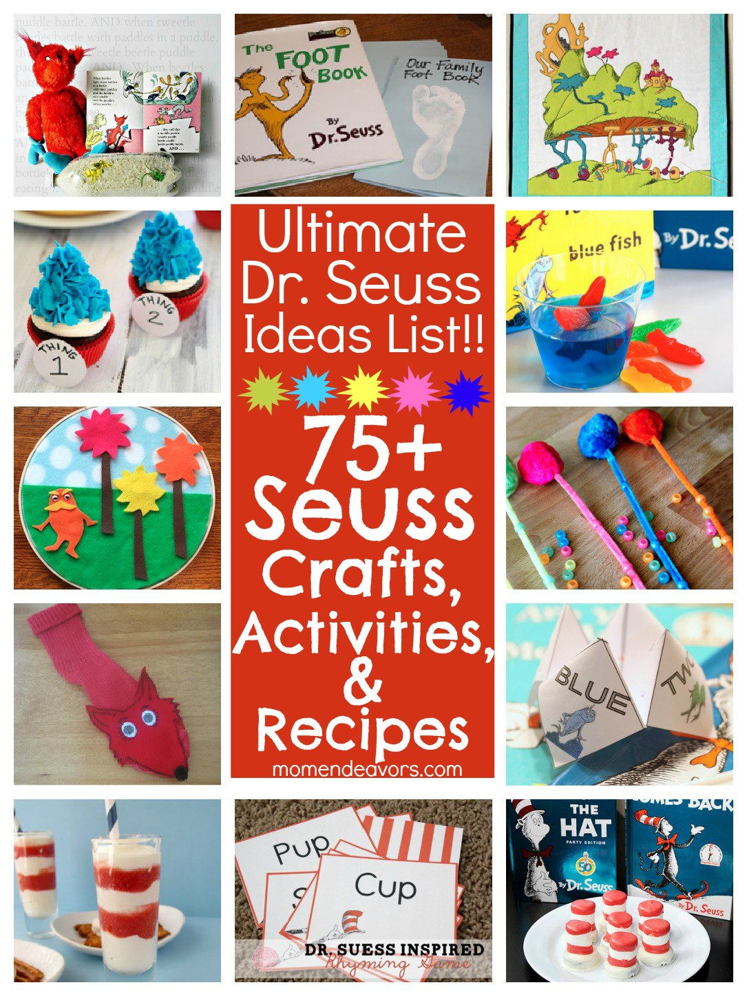 Dr Seuss Shape Recognition Activity