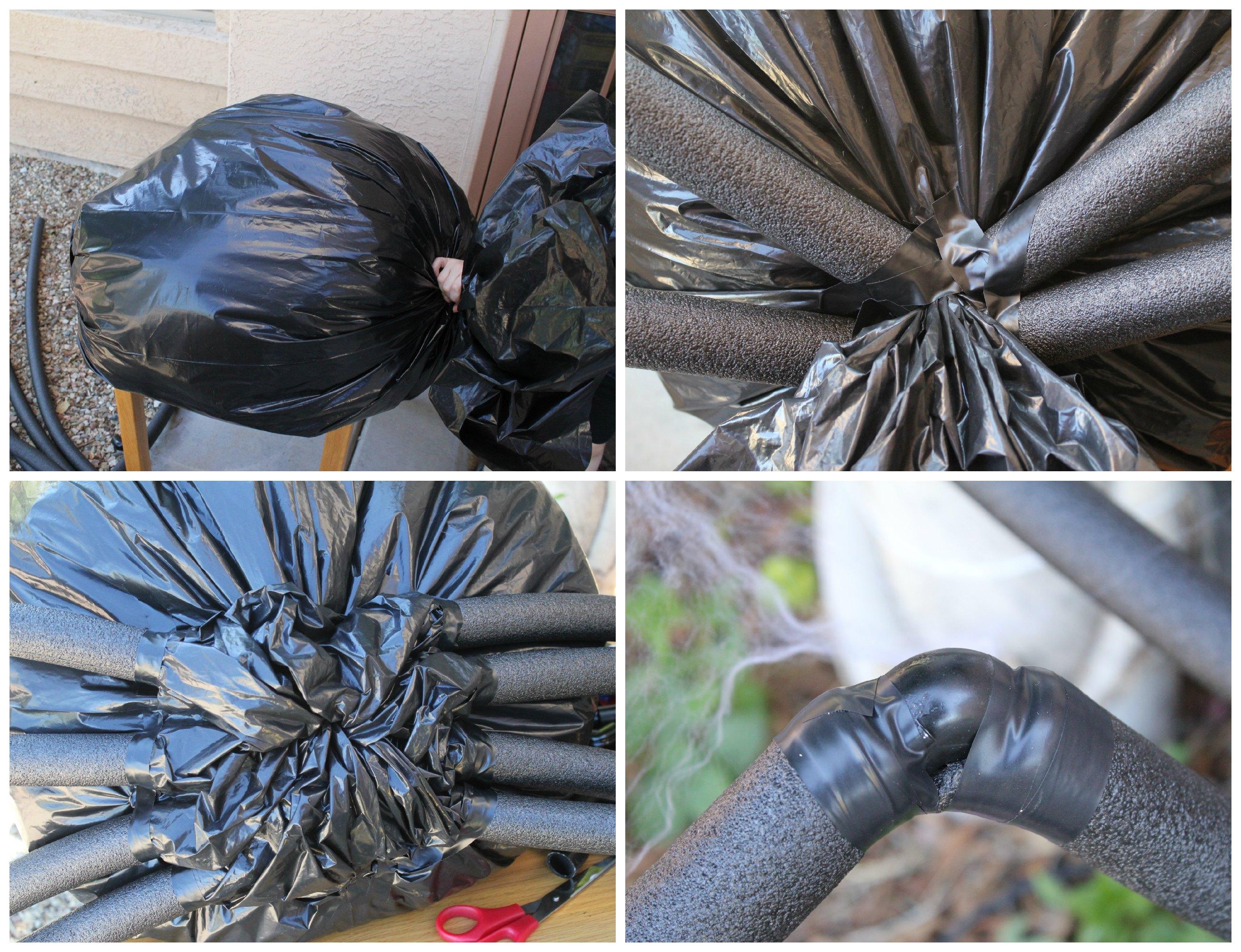 Diy Halloween Yard Decor Giant Spider In Spiderweb