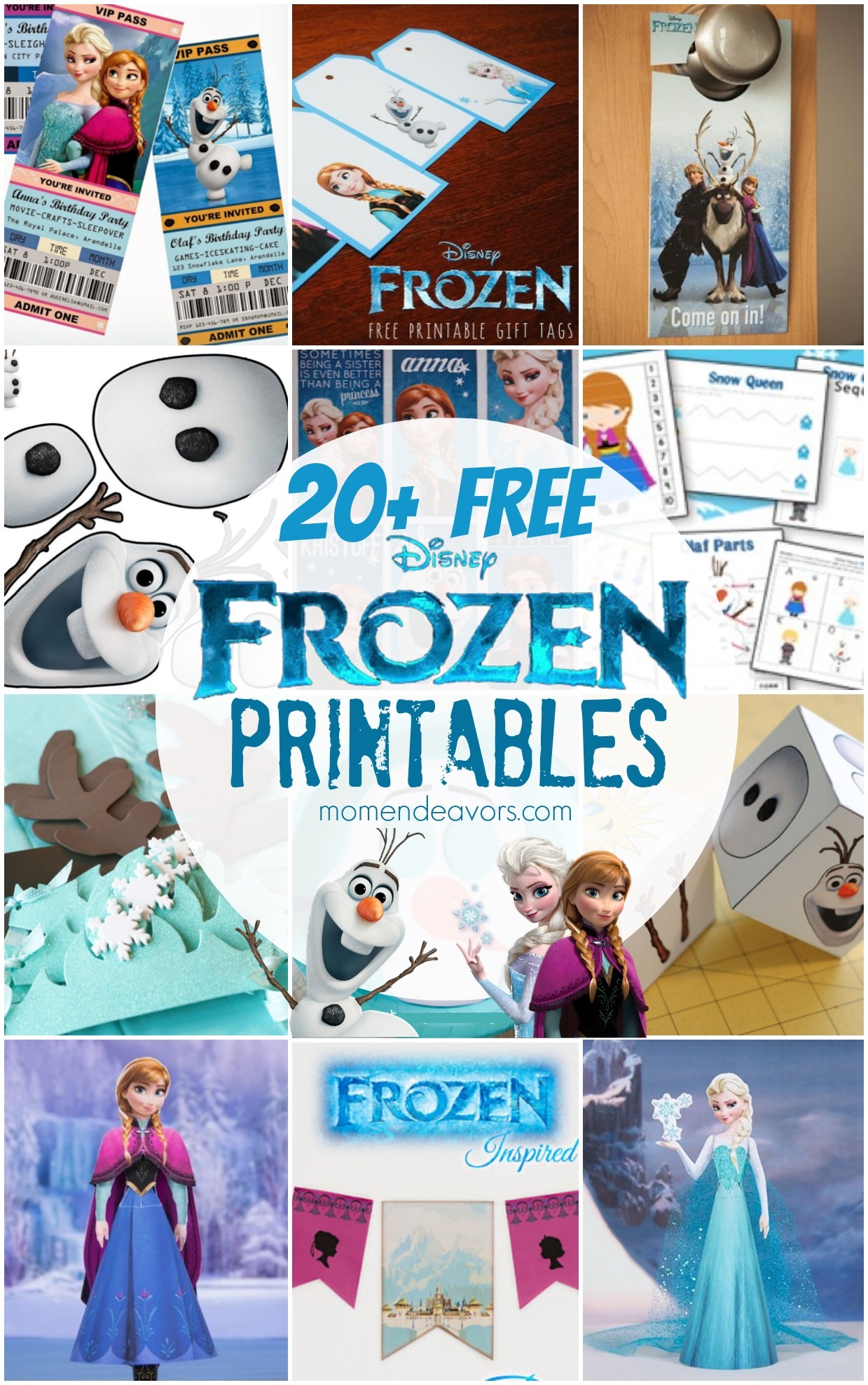 20 Free Disney Frozen Printables Activity Sheets Amp Party