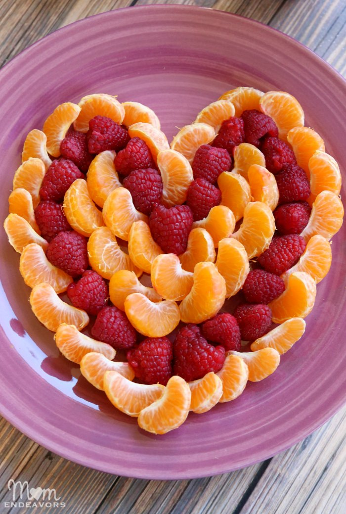 Heart Shaped Fruit Platter With Orange Whipped Cream Recipe