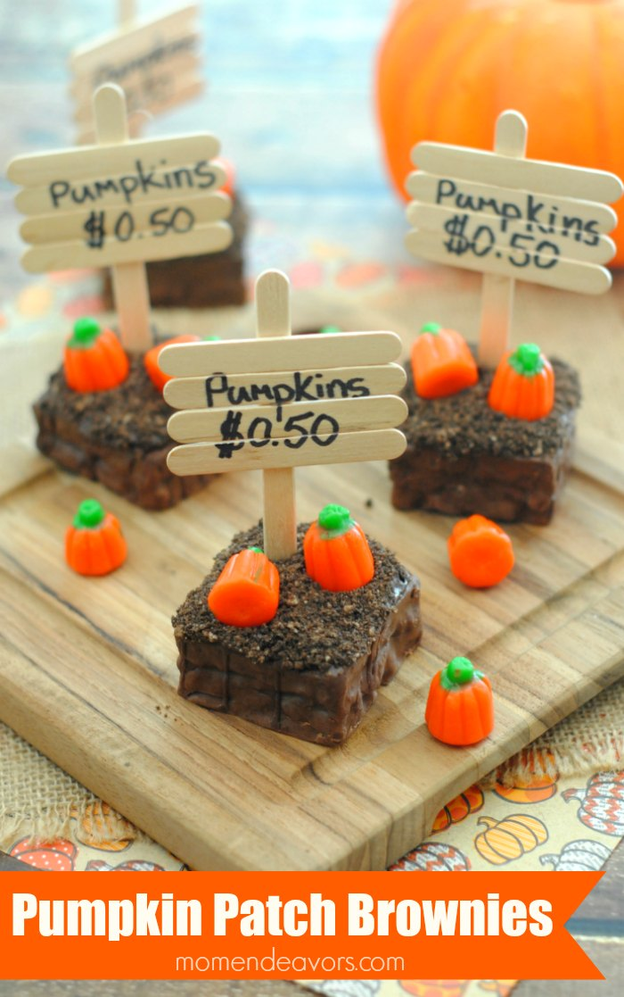 Pumpkin Patch Brownies, by Mom Endeavors
