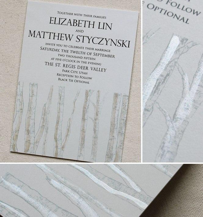 Birch Wedding Invitation