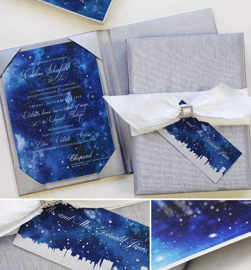 Pin It Starry Night Party Stationery