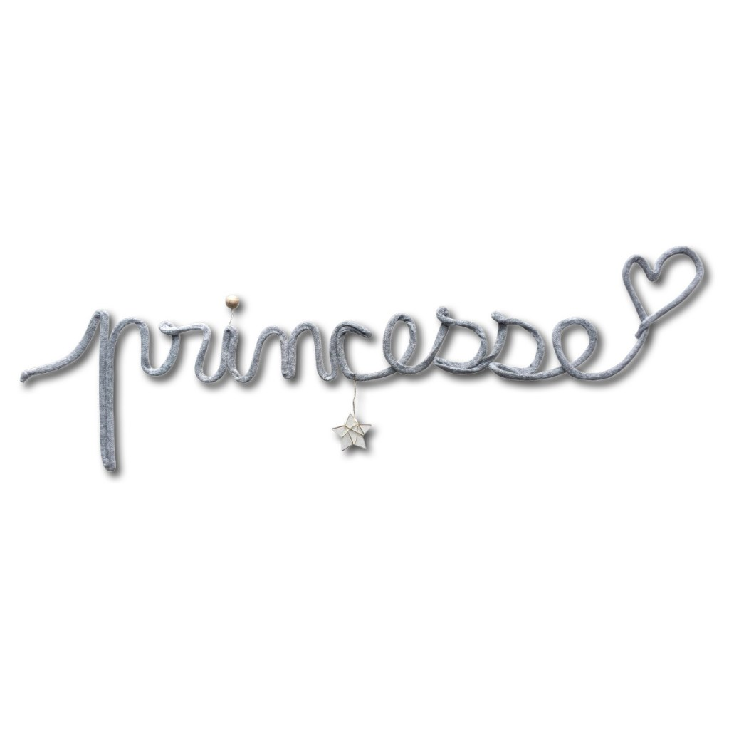 Deco Murale En Fil Metal Princesse Gris Titoutam Momentbebe