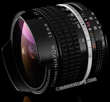 Nikon manual focus Fisheye-Nikkor 16mm f/2.8 AI-S