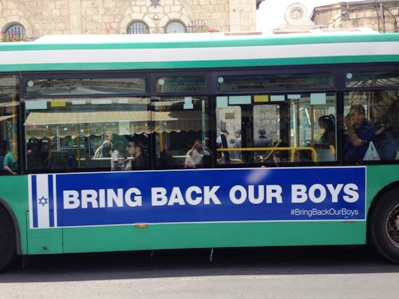 Bring back our Boys Bus Ad