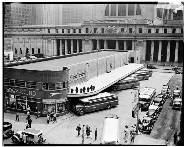 Greyhound Bus Terminal at Penn Station in 1936.