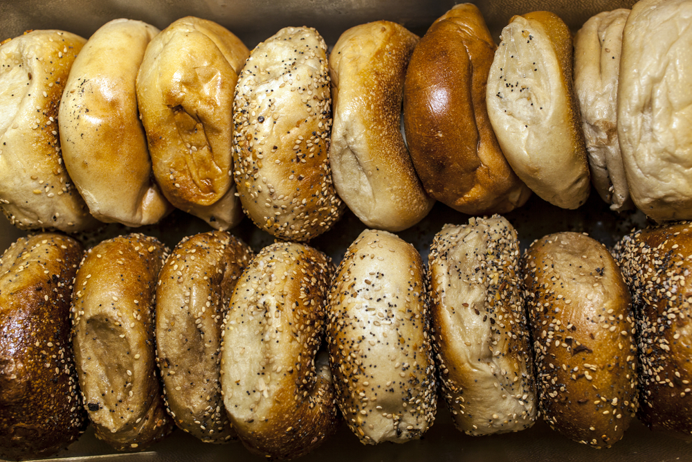 Multiple types of Bagels