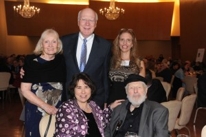 Senator Patrick Leahy and wife Marcelle along with Nadine Epstein and Aimee Ginsburg Bikel and Theodore Bikel