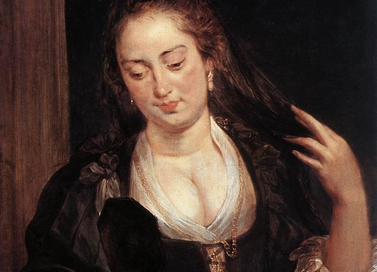 Woman with a Mirror by Peter Pau Rubens