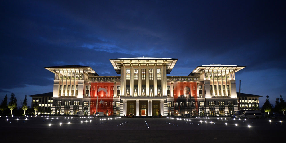 "The Ak Saray or ""White Palace"" is a $615 million, 1,100 room structure on the edge of Ankara that serves as Erdogan's new official residence."
