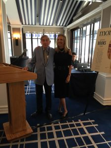 Moment editor and publisher Nadine Epstein with Mike Levitas, Moment's literary editor emeritus
