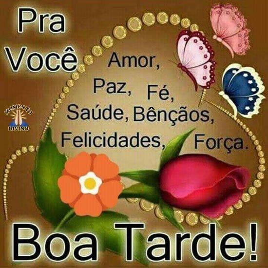 pra você Amor Paz e Fé,! Boa Tarde  whatsapp
