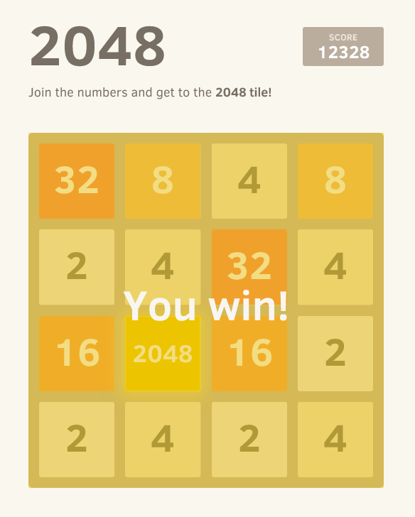 20 (Slightly) Different 2048 Versions
