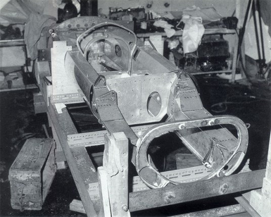 Detalle del chasis del Lotus 25.