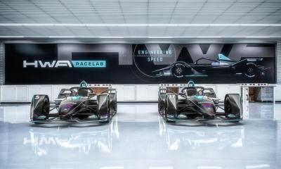 El garaje del HWA Racelab