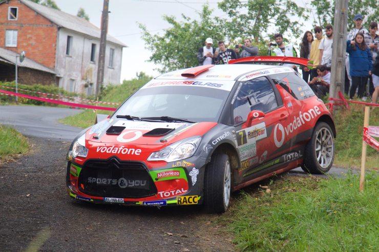 López en el Rallye de Ferrol 2018